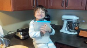 My little baker!